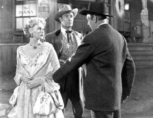 Adele JERGENS, Randolph Scott,Raymond Massey