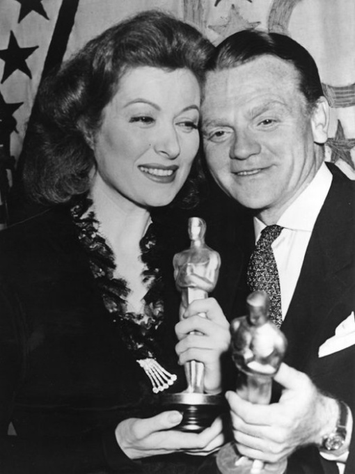 Greer Garson, James Cagney