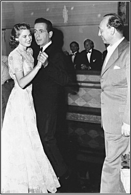 Michael Curtiz on the dance floor with Bogart  and Bergman. CASABLANCA