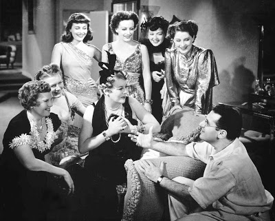 The cast of THE WOMEN with their director, George CUKOR
