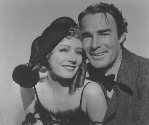 Irene Dunne, Randolph Scott. HIGH WIDE AND  HANDSOME