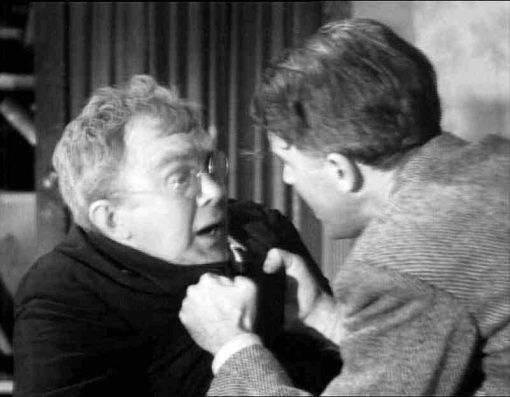 """Where's that money?"" (Thomas Mitchell as Uncle Billy)"