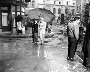 Judy Garland, Peter Lawford. EASTER PARADE. 'Fella with an Umbrella'