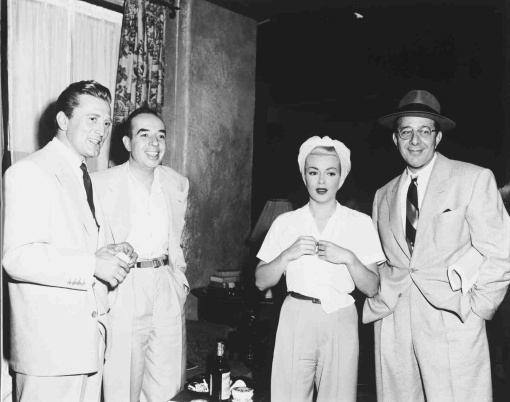 Kirk Douglas,Vincente Minnelli,Lana Turner, Dore Schary.The Bad and the Beautiful
