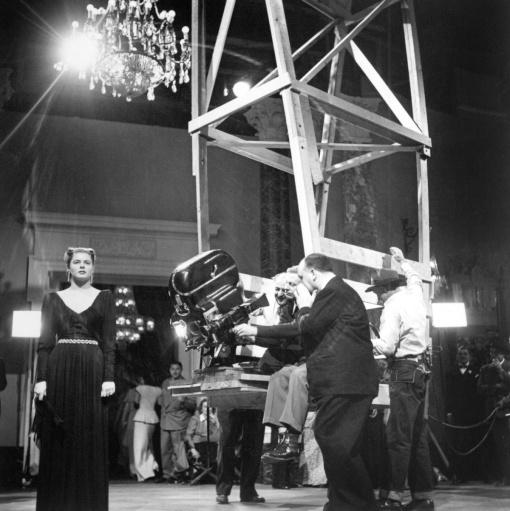 Another shot of that scene in Notorious. Ingrid Bergman.