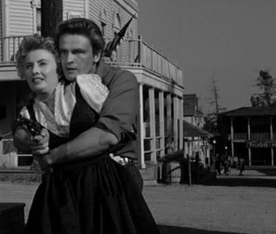 Barbara Stanwyck, John Ericson. FORTY GUNS