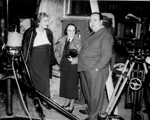 Madeleine Carroll,Alma Reville,Alfred Hitchcock.THE 39 STEPS