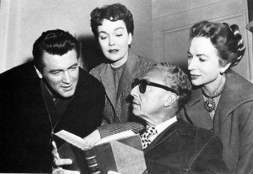 Rock Hudson,Jane Wyman,Douglas Sirk, Agnew Moorehead.ALL THAT HEAVEN ALLOWS
