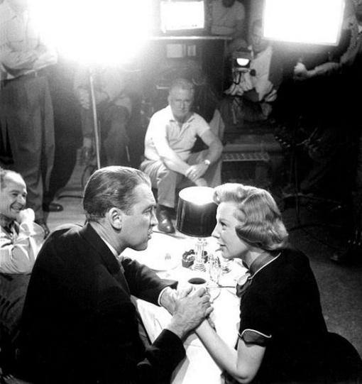 Anthony Mann(far left),James Stewart,June Allyson. THE GLENN MILLER STORY