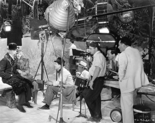 Fred Astaire,,Ginger Rogers, George Stevens ( black hat). SWINGTIME