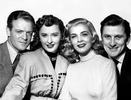 Van Heflin,Barbara Stanwyck,Lizabeth Scott, Kirk Douglas.