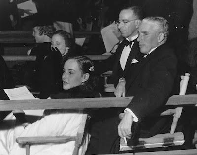 Paulette Goddard,Charlie Chaplin at Hollywood Bowl