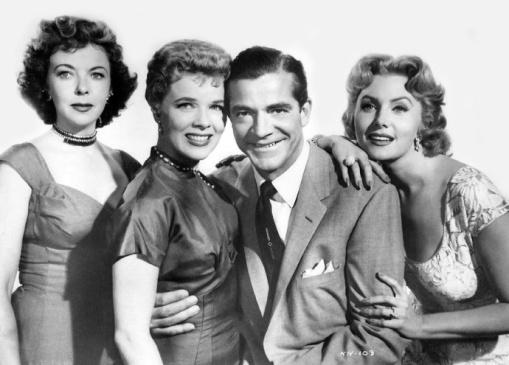 Ida Lupino, Sally Forrest,Dana Andrews,Rhonda Fleming WHILE THE CITY SLEEPS