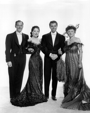 Michael Wilding,Greer Garson, Fernando Lamas,Marjorie Main. The Law And The Lady.