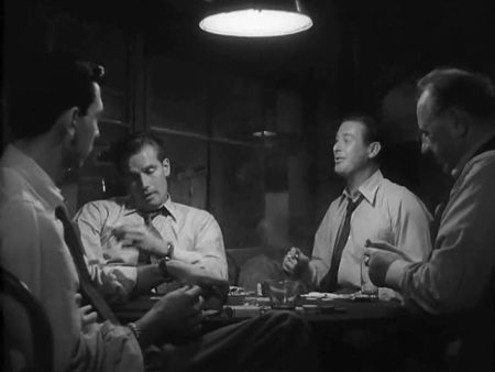 Jack Webb, Charlton Heston, Don DeFore,Ed Begley