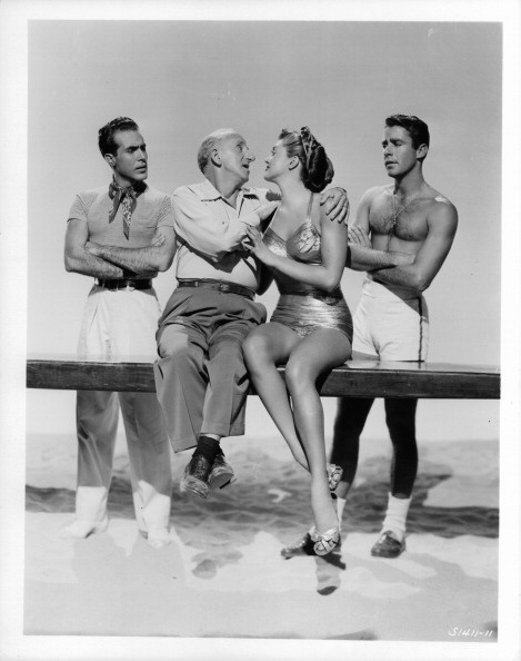 Ricardo Montalban,Jimmy Durante,Esther  Williams,Peter Lawford.ON AN ISLAND WITH YOU.