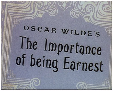 aesthetics in oscar wildes play the importance of being earnest Start studying oscar wilde, the importance of being earnest, and victorian era learn vocabulary, terms, and more with flashcards, games, and other study tools.
