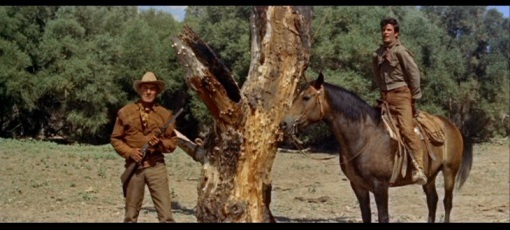 Randolph Scott,James Best.RIDE LONESOME