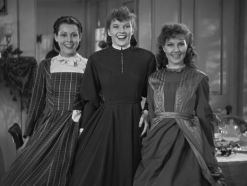 Frances Dee,Katharine Heoburn,Jean Parker.LITTLE WOMEN
