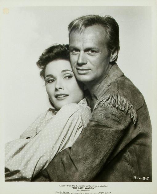 Felicia Farr,Richard Widmark.THE LAST WAGON
