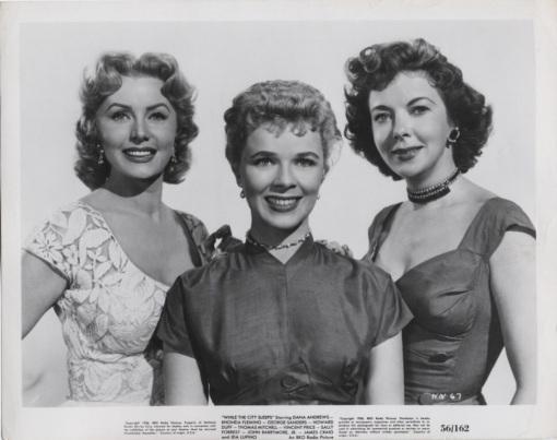 Rhonda Fleming,Sally Forest,Ida Lupino.WHILE THE CITY SLEEPS