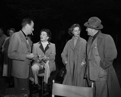 Humphrey Bogart,Katharine Hepburn, Lauren Bacall,Spencer Tracy