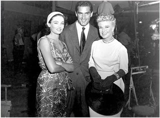 Gene Tierney , Jacques Bergerac (Ginger's husband) , Ginger Rogers.THE BLACK WIDOW