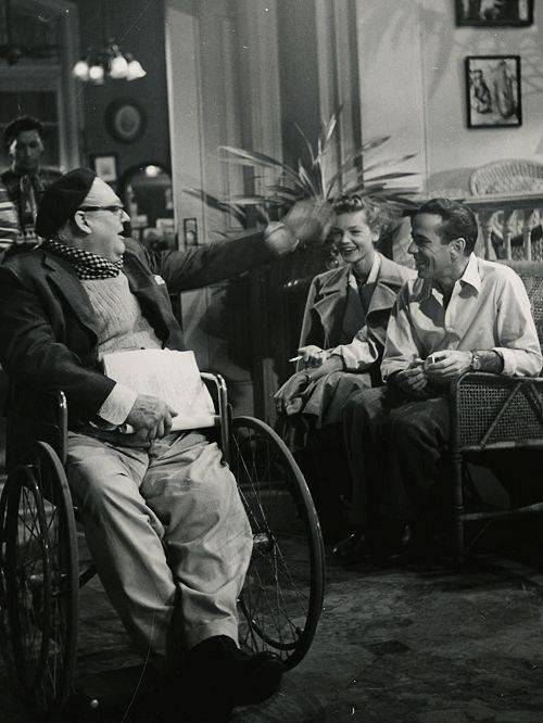 Lionel Barrymore,Lauren Bacall, Humphrey Bogart.KEY LARGO
