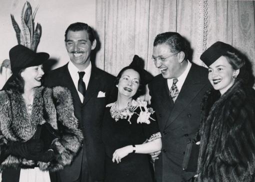 Vivien Leigh,Clark Gable, Marbaret Mitchell, David Selznick,Olivia De Havilland