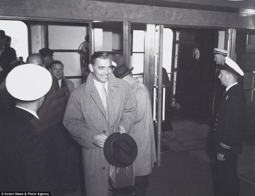 Clark Gable on the Queen Mary