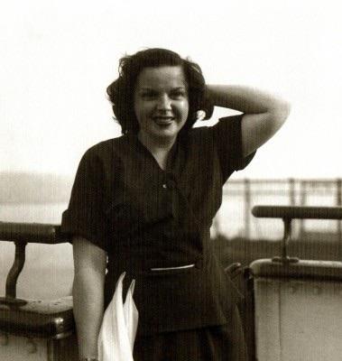 Judy Garland on RMS Caronia
