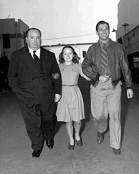Alfred Hitchcock,Patricia Hitchcock,Robert Cummings.SABOTEUR