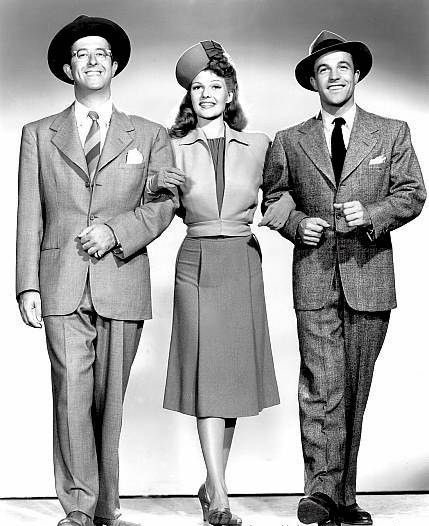 Phil Silvers,,Rita Hayworth,Gene Kelly.