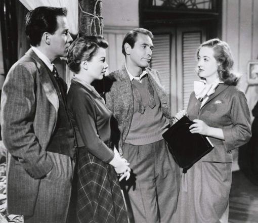 Hugh Marlowe,Anne Baxter,Gary Merrill,Bette Davis