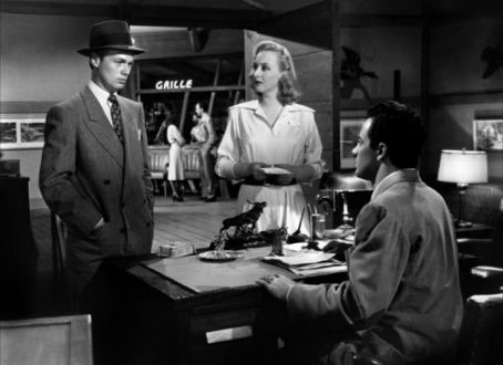 Richard Widmark,,Celeste ahold,Cornel Wilde. ROAD HOUSE