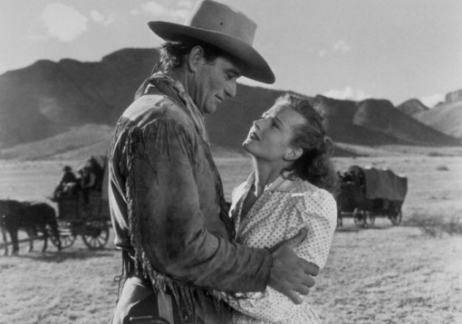 John Wayne, Coleen Gray.RED RIVER