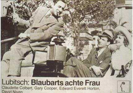 Ernst Lubitsch,Gary Cooper,Claudette Colbert.BLUEBEARD'S EAGTH WIFE