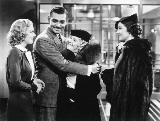 Jean Harlow,Clark Gable,May Fobson,Myrna Loy.WIFE VS SECRETARY