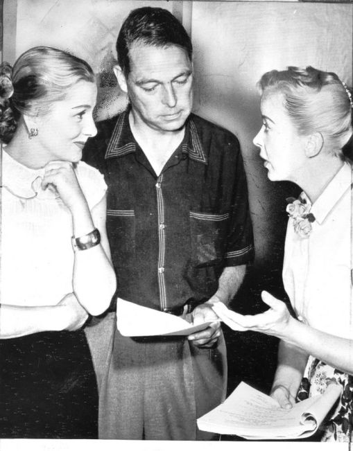 Joan Fontaine, Collier Young, Ida Lupino. THE BIGAMIST