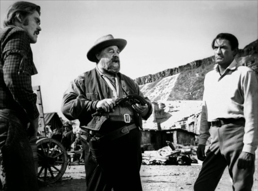 Chuck Connors,Burl Ives,Gregory Peck.THE BIG COUNTRY