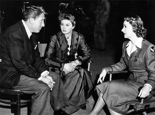 Spencer Tracy,Ingrid Bergman,Irene Dunne.