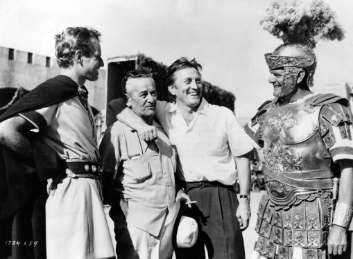 Charlton Heston,William Wyler, Kirk Douglas,Jack Hawkins.