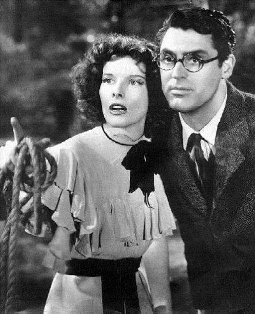 Katharine Hepburn,,Cary Grant.BRINGING UP BABY