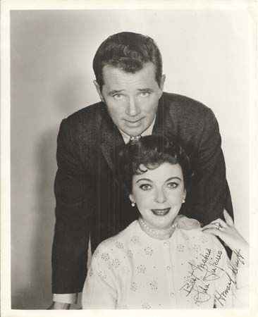 With Howard Duff
