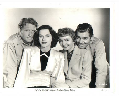 Spencer Tracy,Hedy Lamaar,Claudette Colbert,Clark Gable.BOOM TOWN