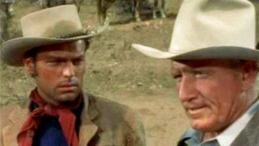 With Spencer Tracy.BROKEN LANCE