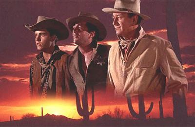 Ricky Nelson,Dean Martin,John Wayne.RIO BRAVO