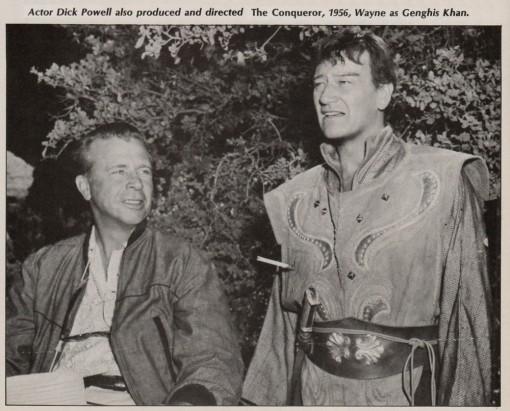 Dick Powell, John Wayne