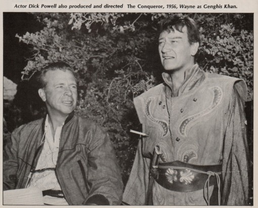 Dick Powell, John Wayne
