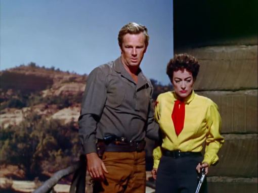 Sterling Hayden (Johnny), Joan Crawford (Vienna)